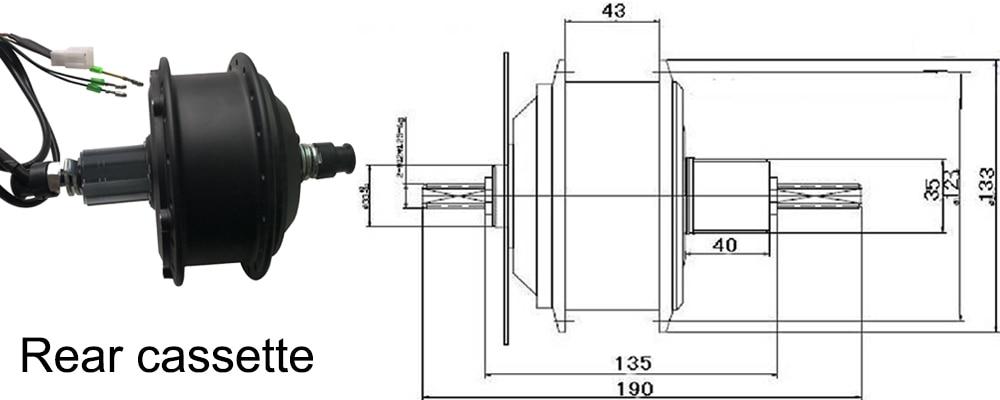 36V hub motor Rear cassette