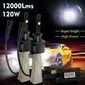 Taitian 2 Unids 120 W 6000LM LLEVÓ la Linterna H1 Bombillas de Coche De Conversión de Haz 6000 K Xenon Blanco
