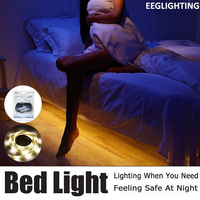 Motion Activated Bed Light Flexible LED Strip Motion Sensor Night Light Bedside Lamp Illumination With Automatic