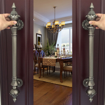 1pcs High quality European Villa Hotel Entrance Gate Door Handle Glass KTV/hotel Wood Door Handles  Furniture hardware . antique bronze sculpture luxury hotel clubs handle chinese glass door wooden door handles villa handle