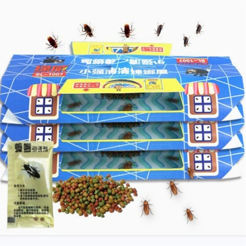 3Pcs Cockroach Traps with Bait Included Premium Glue Trap Eco-Friendly Cockroach Trap Repellent Spiders Ants Roach Killer
