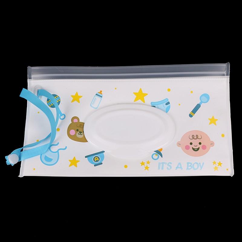 1 шт. Многоразовые Детские влажные салфетки с мультяшным принтом, сумка для влажных салфеток, контейнер для влажных салфеток, детские дорожные салфетки для ухода за кожей - Цвет: 1pcs