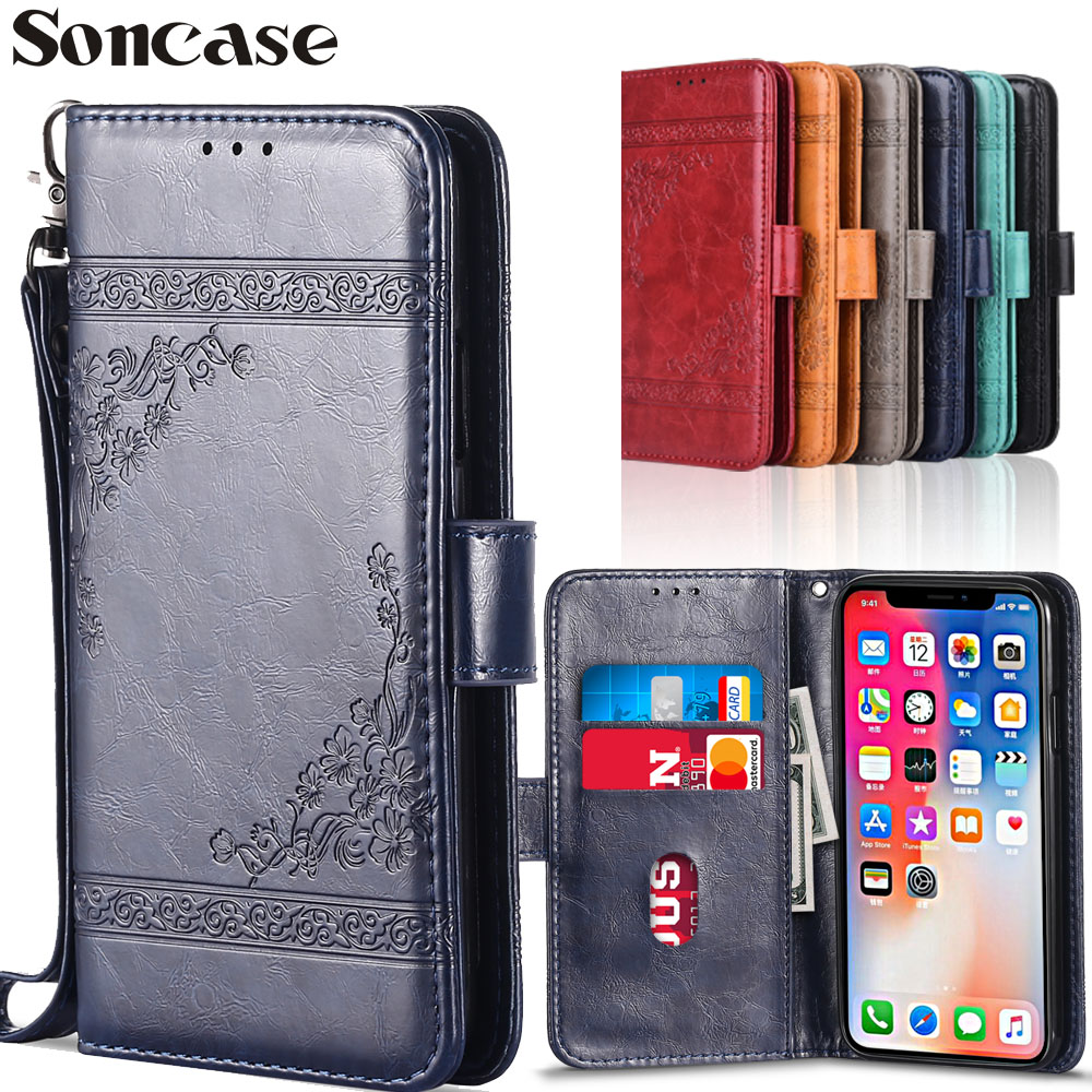 Wallet Flip Leather Case for Samsung Galaxy A9 A6 A7 2018 A5 2017 A3 2016 Case Capa TPU Cover for Galaxy J3 J4 J6 J5 J6 J7 J1 J2