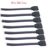 10 Uds 4pin conector de led RGB Alambre de cable de conector macho para 3528/5050 RGB led tira de 10 uds/lote