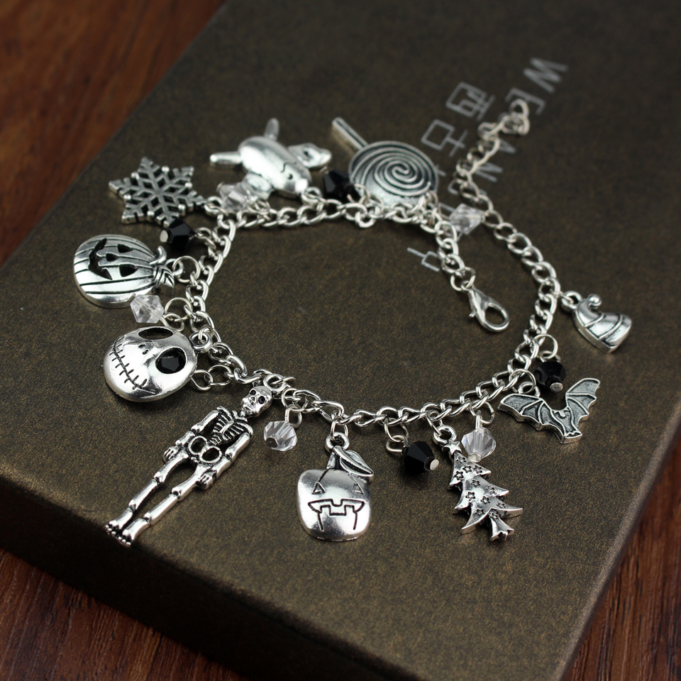 Fashion Jewelry Nightmare Before Christmas Crystal Bracelets ...