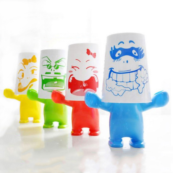 Children Couple Lovely Giant Series Cartoon Plastic Toothbrush Holder Set Bathroom Accessories Mugs Copos Shelves Useful image