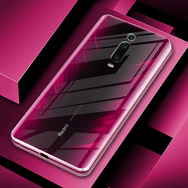 MAKAVO For Xiaomi Redmi K20 Pro Case Mi 9T Transparent Crystal TPU Soft  Clear Cover on For Xiaomi Redmi K20 Phone Case Skin