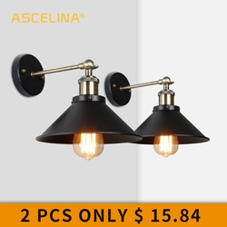 Industrial Wall Lamp Vintage wall Light LED retro lamp brace for living room bedroom corridor outdoor Decorative lighting 2 Pcs
