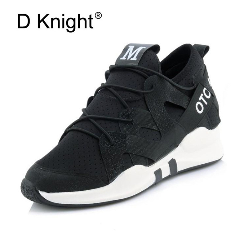 fdc3c3d91681 Sneakers Big Shoes Size Lace 2019 Chunky Flat PU 45 Mesh Thick Platform  Footwear Fashion Dad ...