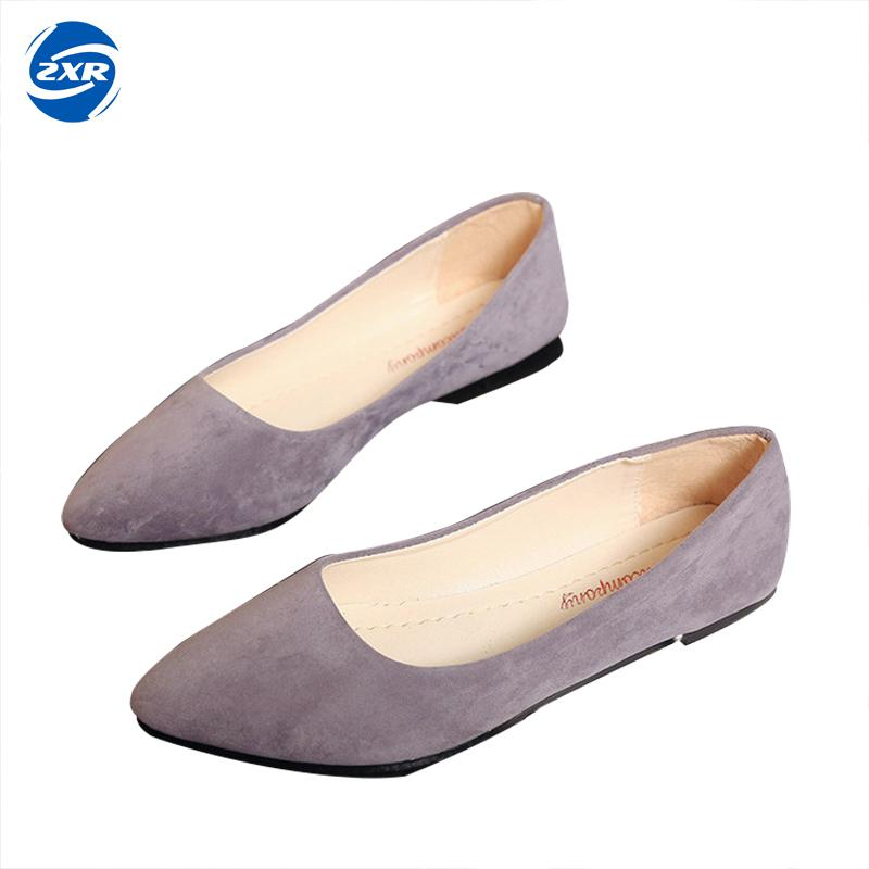 Women Flats Candy Color Flock Vamp Women Pointed Toe Elegant Women Shoes Causal Shoes Slip-on Lady Shoes daitifen 2018 spring elegant mental buckle pointed toe ladies flat shoe fancy flock shoes women flats casual slip on women flats