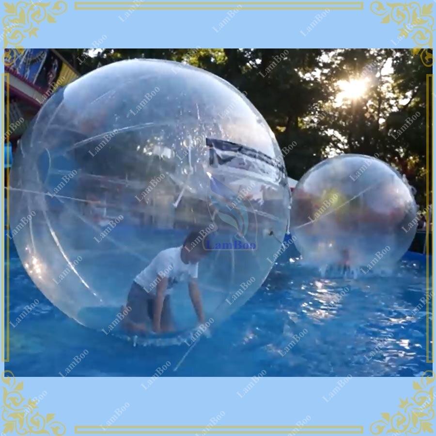 2 м прозрачный надувной шар для ходьбы по воде, коммерческое использование воды игра мяч, водный танцор мяч