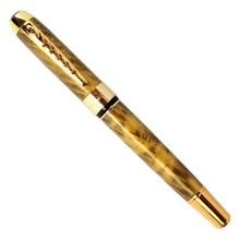 Gold arrow clip Fountain ink pen Iraurita 0.5mm fine signature office pens Jinhao 250 Stationery student school supplies F062 недорого
