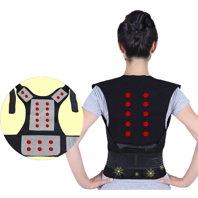 Tourmaline Heating Vest Back Waist Protector Magnetotherapy Multi-function Healthcare Health Lumbar Intervertebral Disc Painless electric heating waist belt protector for intervertebral strain lumbar support heating uterus stomach suited for men and women