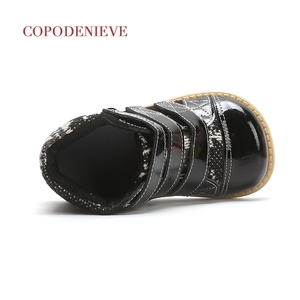 Image 5 - COPODENIEVE חורף ילדי עור אמיתי שלג מגפי עיבוי בנות חם אמצע עגל כותנה נעליים