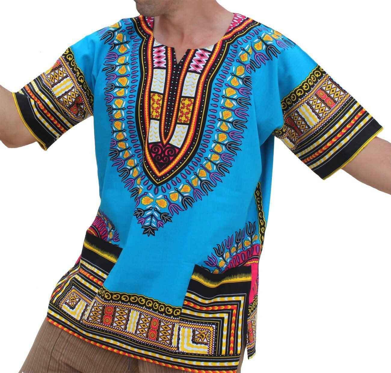 8f99af28e768e 2019 African Dashiki New Arrival Promotion Polyester Men Bigger Sizes  Printed T-shirts Ethnic plus