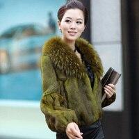 Женская шуба из натурального меха кролика, меха енота, собаки, зимняя тонкая куртка, короткая теплая Толстая натуральная черная серая верхн