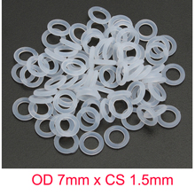 OD 7mm x CS 1.5mm SILICONE Rubber Translucent O ring O-ring Oring Sealing