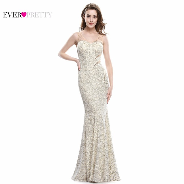 Prom Dresses 2017 Real Photos Sexy V-neck back Ever Pretty EP08821 Women's elegant sleeveless long Prom Evening Party Dresses