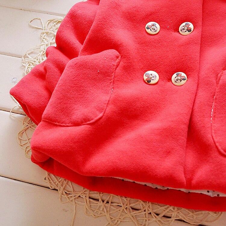 Зимняя детская парка с толстым бархатом; зимняя одежда для маленьких девочек; Верхняя одежда для маленьких девочек; двубортное пальто с бантом; одежда для маленьких девочек