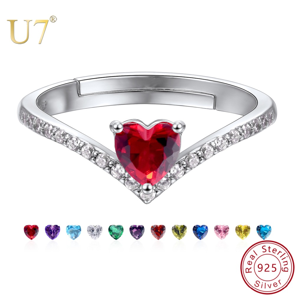 Ruby Red Ring Rose Gold Plated 925 Sterling Silver Wedding Gift Christmas Gift