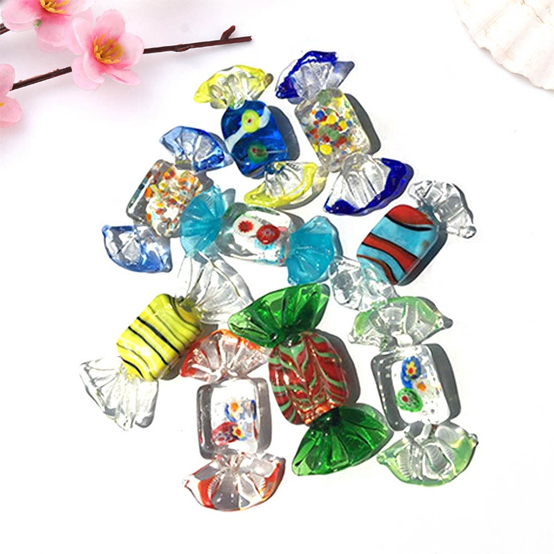 1PC Colorful Vintage Glass Sweets Wedding Party Candy ...