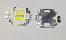 Бесплатная доставка 5 шт. 10 Вт квадратный гибридный 6 шт. холодный белый 10000 К + 3 шт. Королевский синий 450nm-455nm высокая мощность светодиодный св...