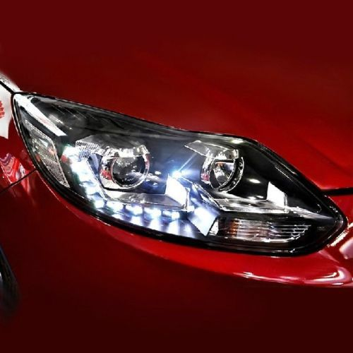 Ownsun New Style Tear Drop LED Projector Lens Headlight for New Ford Focus 2012-2013 ownsun new style tear drop led projector lens headlight for new ford focus 2012 2013