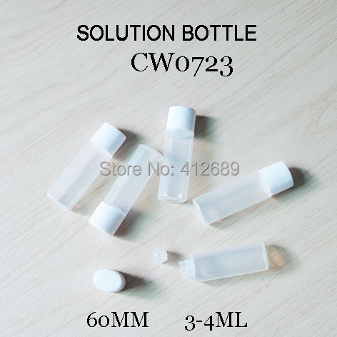 Aggressive Cw0723 White Cap Solution Water Contact Lens Plastic Bottle 3-4ml Size 5pcs/lot Providing Amenities For The People; Making Life Easier For The Population Men's Glasses
