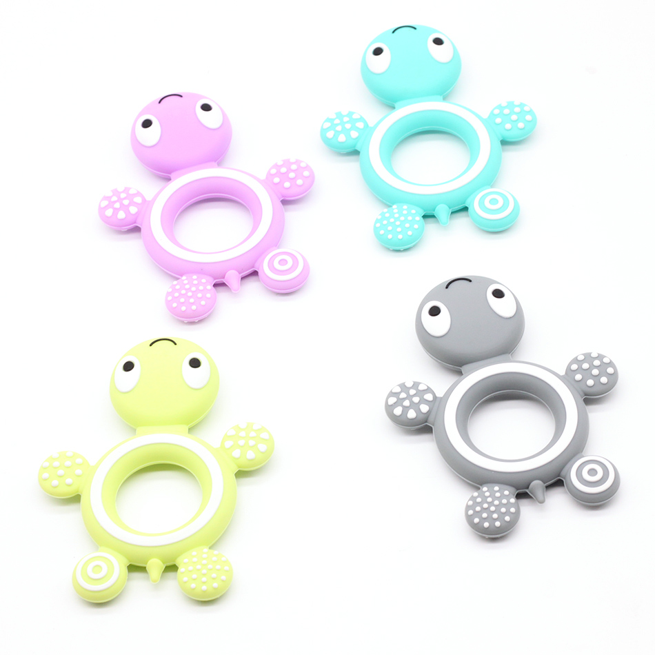 Silicone Tortoise 1pcs Baby Teether Lovely Diy Teething Necklace Accessories Baby Shower Food Grade Silicone Teether