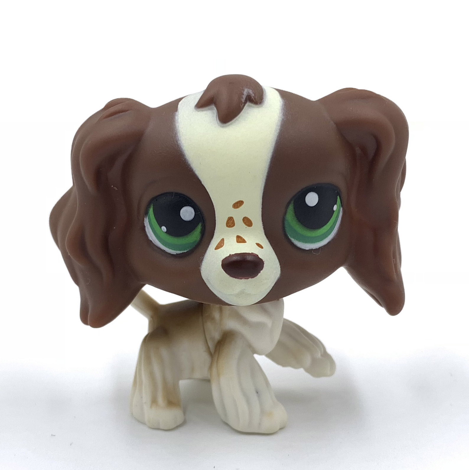 Rare Pet Shop Lps Toys Figure #156 Little Brown Dog Cocker Spaniel There Are Spots On The Nose Rare Collection For Girls