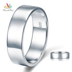 Павлин звезда полированный Для мужчин, Стерлингового Solid 925 Серебряное обручальное кольцо ювелирные изделия cfr8056