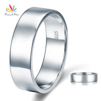 Men S Solid Sterling 925 Silver Wedding Band Christmas Present Gift Ring CFR8056