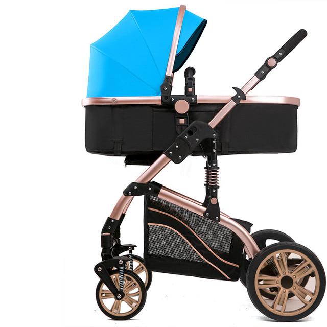 Luxo carrinho de bebê carrinho de carro do bebê de quatro redonda Europeia da paisagem para o inverno e verão bebê carrinho de bebê confortável