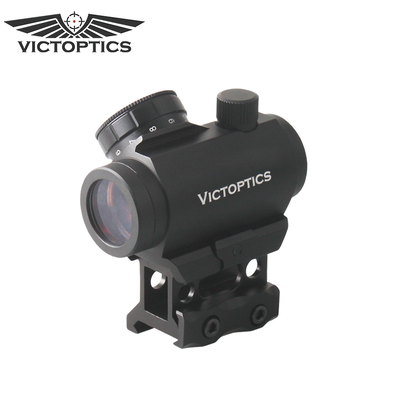 VictOptics 1x22 Red Dot Sight with 21mm Picatinny Riser Mount Red Dot Scope target solar power t1 t 1 red dot with riser mount and low mount tan ipsc hs403c hs503c