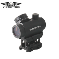 VictOptics 1x22 Red Dot Sight with 21mm Picatinny Riser Mount Red Dot Scope