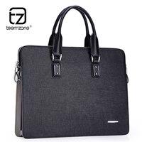 Teemzone Для мужчин Топ из натуральной кожи британский стиль 14 '' 15 ноутбук Портфели Бизнес высокого класса люкс сумочка сумка на плечо T0793