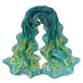 Brand new Scarf Women Fashion Accessories Peacock Pattern Shawl Wraps Soft Chiffon Scarves foulards femme 2016 1pc #30 Gift