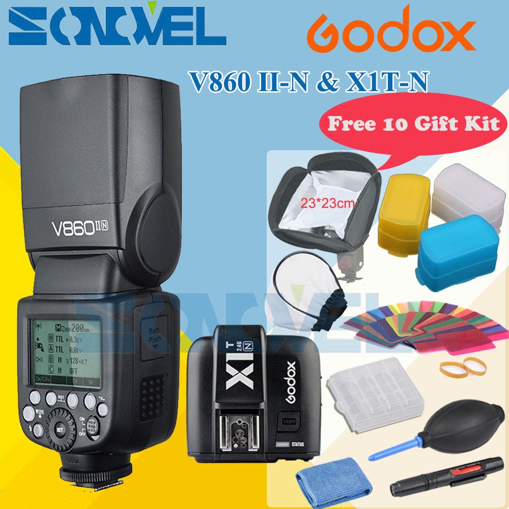 Godox V860II N V860IIN GN60 i TTL HSS 1 8000s Speedlite Flash w Li ion Battery