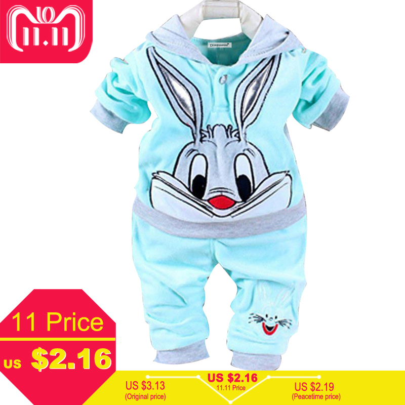 KEAIYOUHUO Spring 2018 Baby Girl Clothes Cartoon Infant T-shirt+Pants Cotton Two-Piece Long Sleeve Outfit Suit Baby Boy Clothing cartoon cotton summer clothing sets for newborn baby boy infant fashion outerwear clothes suit t shirt pant suit baby boy cloth