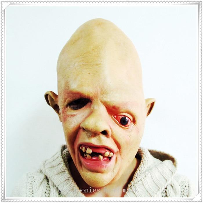 슈퍼 호러 할로윈 코스프레 마스크 쑥쑥 얼굴이 괴상한 얼룩덜룩 한 얼간 아가씨 가면 마스크 새로운 라텍스 게으름 마스크 무료 배송