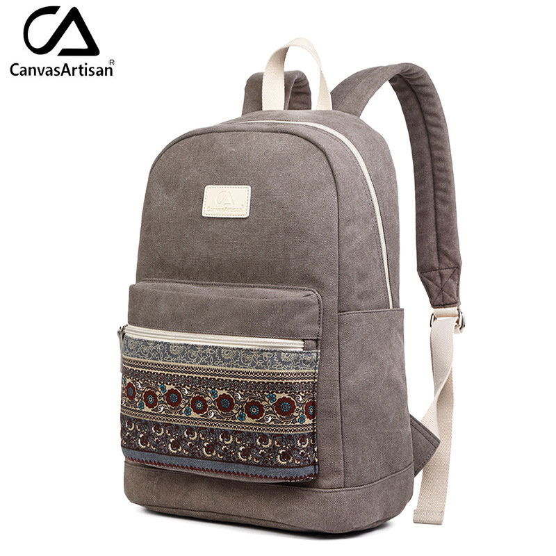 Canvasartisan Brand New Canvas Backpack Bag for Women Vintage Stylish Casual Laptop Travel Backpacks 2 Size