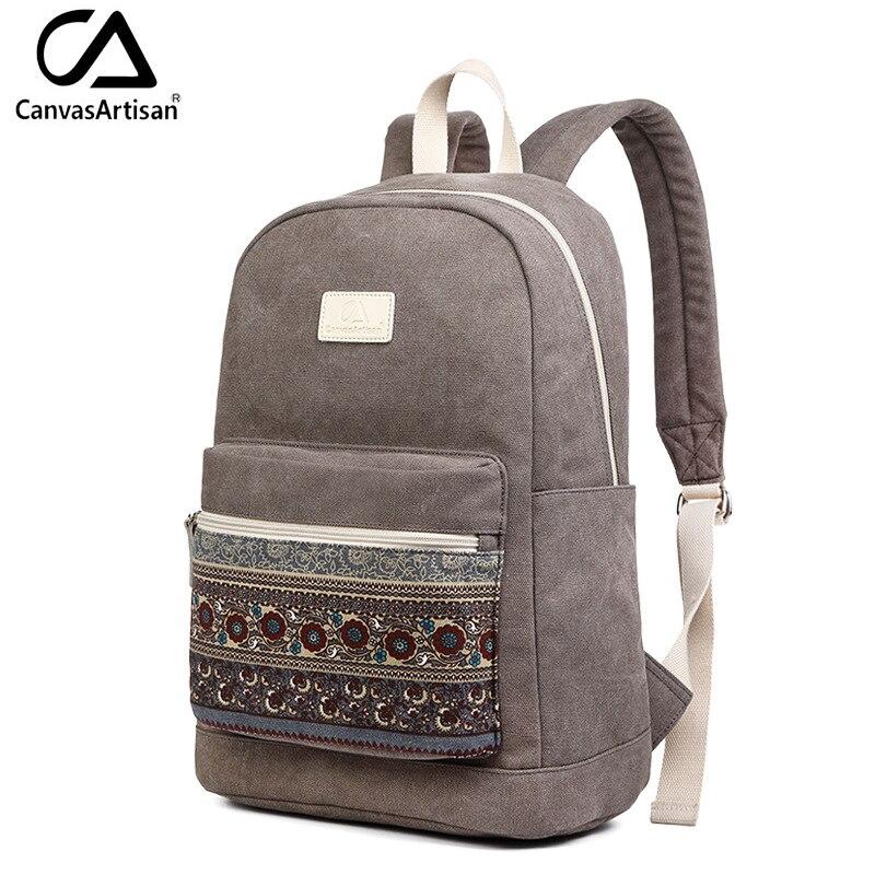 canvasartisan marca novo bolsa mochila Exterior : Saco Contínuo