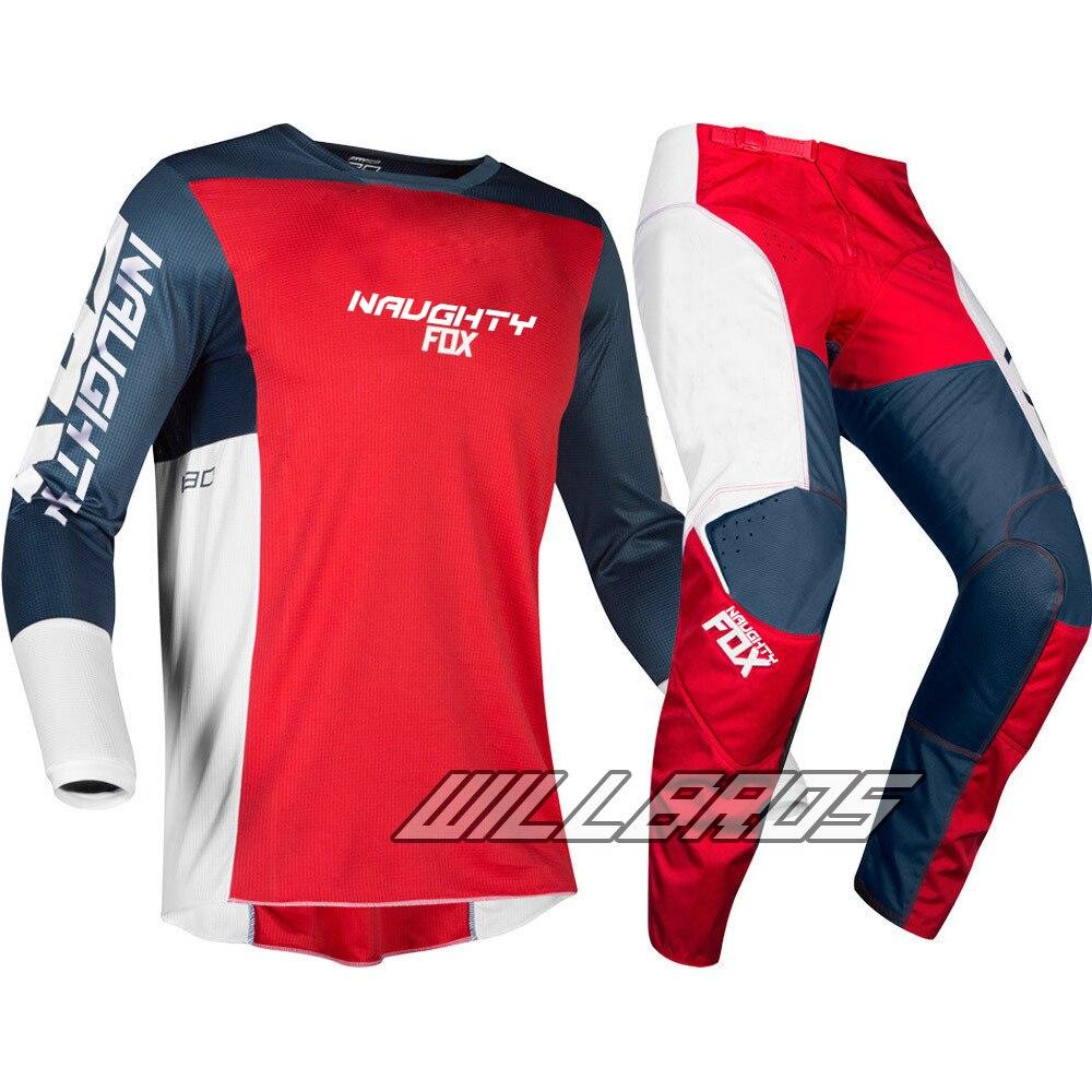 Nouveau vilain Fox 2019 MX 180 Motocross costumes montagne descente Dirt bike Jersey + pantalon MX vtt DH tout-terrain course ensembles cyclisme