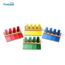 Семейная версия детские игрушки монтессори цвет сходство Сортировка задача дерево раннего детства дошкольники игрушки Brinquedos Juguetes