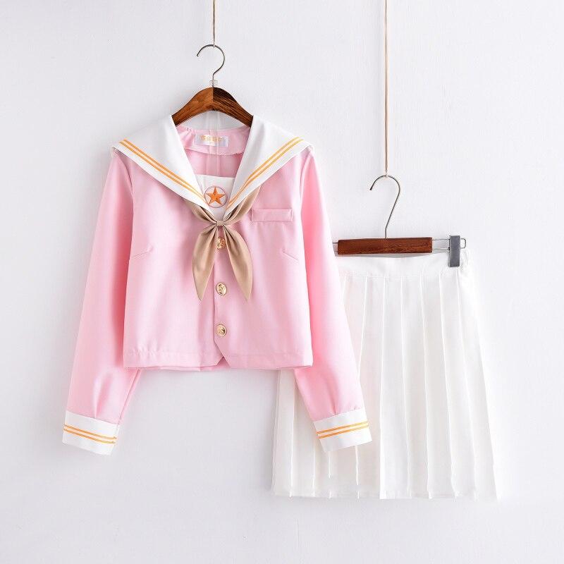 Carte Captor Sakura rose japonais marin costume école uniforme jupe JK uniforme Style Preppy étudiants classe uniforme Cosplay
