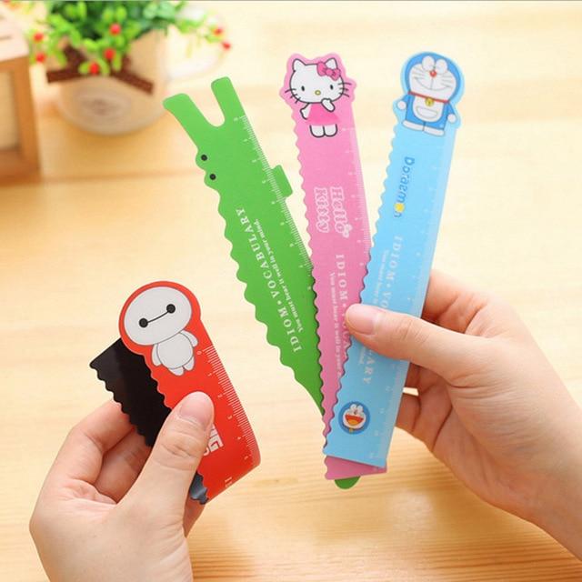Free Shipping 15cm Cute Kawaii Hello Kitty Totoro Magnetic Ruler