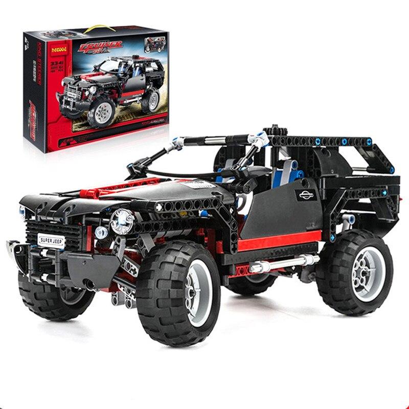 ФОТО 589pcs King Steerer Transport Cruiser SUV Technic Truck Racing Car Model Building Block Toys Figures