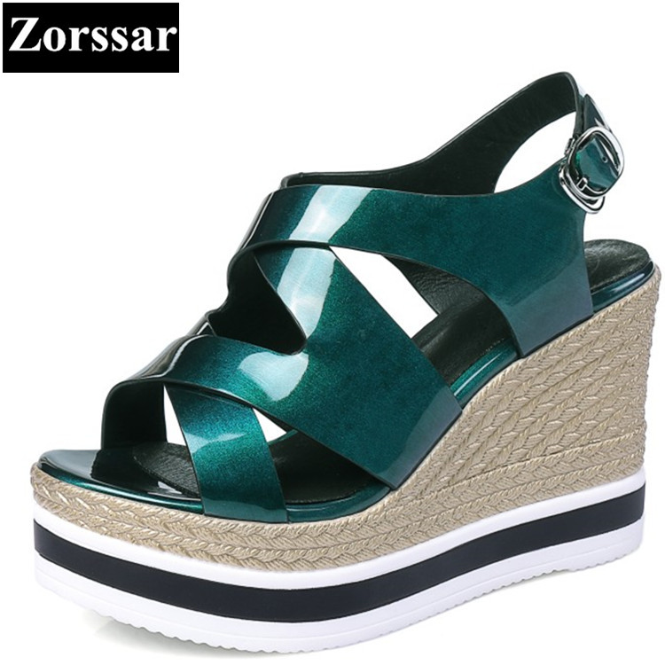 Summer Shoes Woman sandals wedges High heels women platform shoes 2017 NEW fashion Genuine leather Casual womens heels shoes