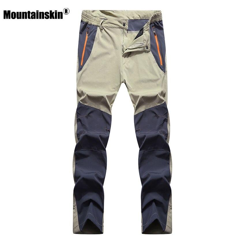 Mountainskin männer Sommer Elastische Quick Dry Pants Outdoor Sport Atmungsaktive Hose Wandern Camping Trekking Klettern Hosen VA210