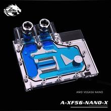 Amd xfx vega56 nano/sapphire pulse radeon rx vega56 8g hbm2/풀 커버 gpu 구리 라디에이터 블록 용 bykski 워터 블럭 사용